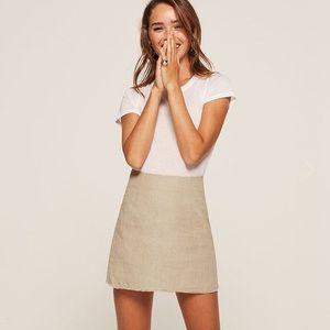 Reformation Fifi Linen Skirt